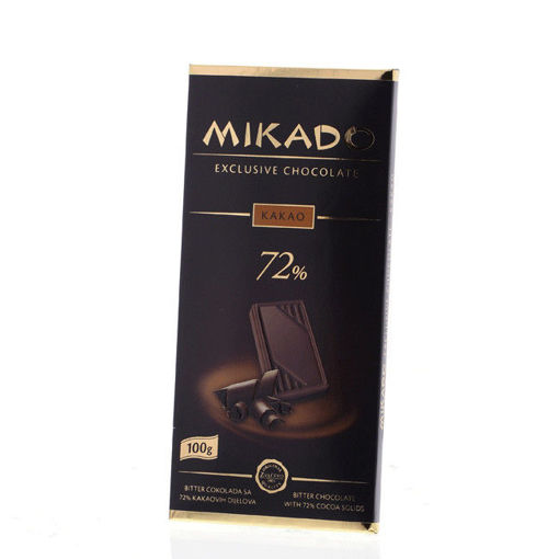 Picture of Mikado Dark Chocolate 72% with Cocoa 100 g