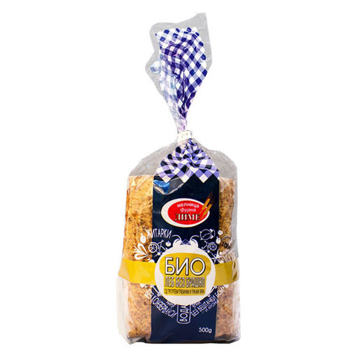 Picture of BIO Toast Bread Without Flour - Wheat and Rye Grains Dime 500 gr