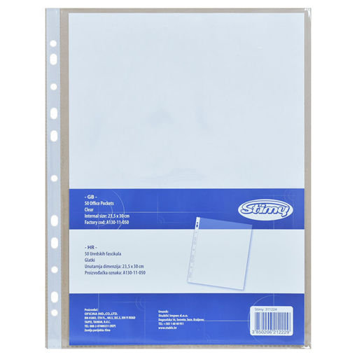 Picture of Stimy PVC Folder UR Pockets A4 130 Microns 50/1